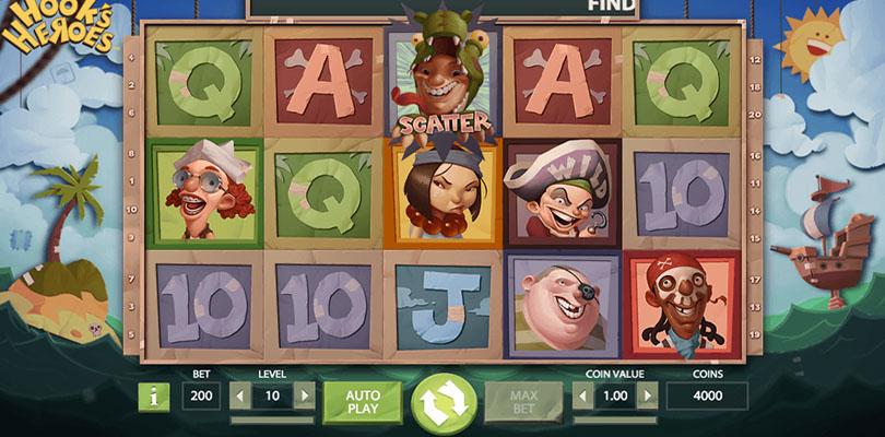 Bra spelupplevelse Hook s Heroes casinoHeroes