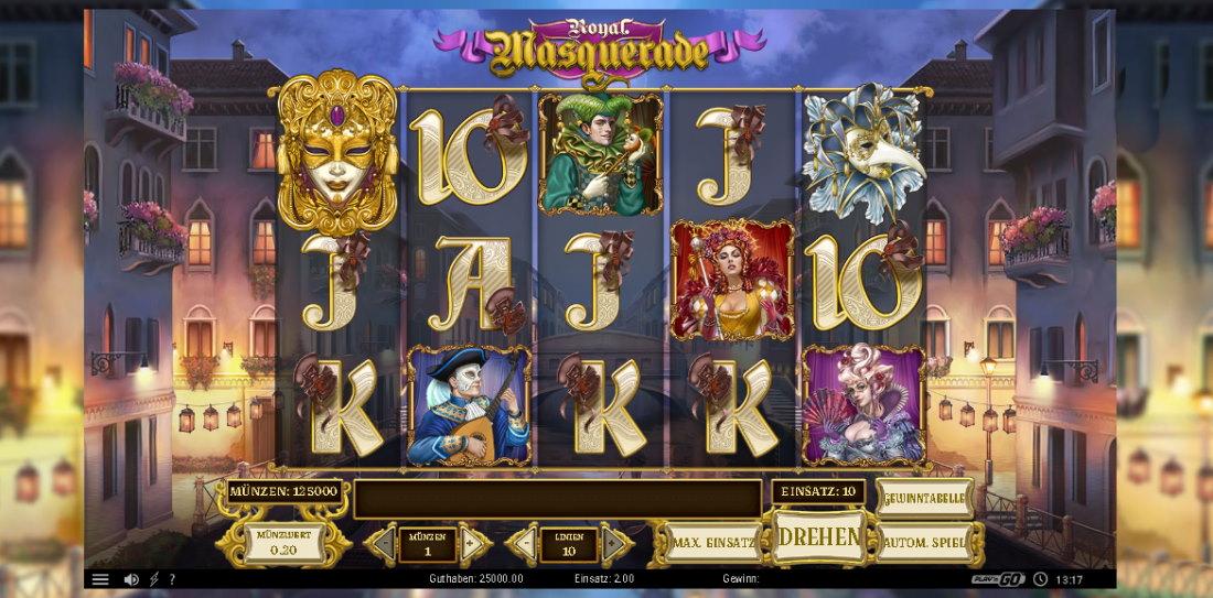 Bäst utdelning Royal Masquerade slot dollar
