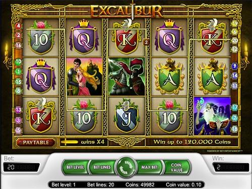 Battle of Excalibur slot billy