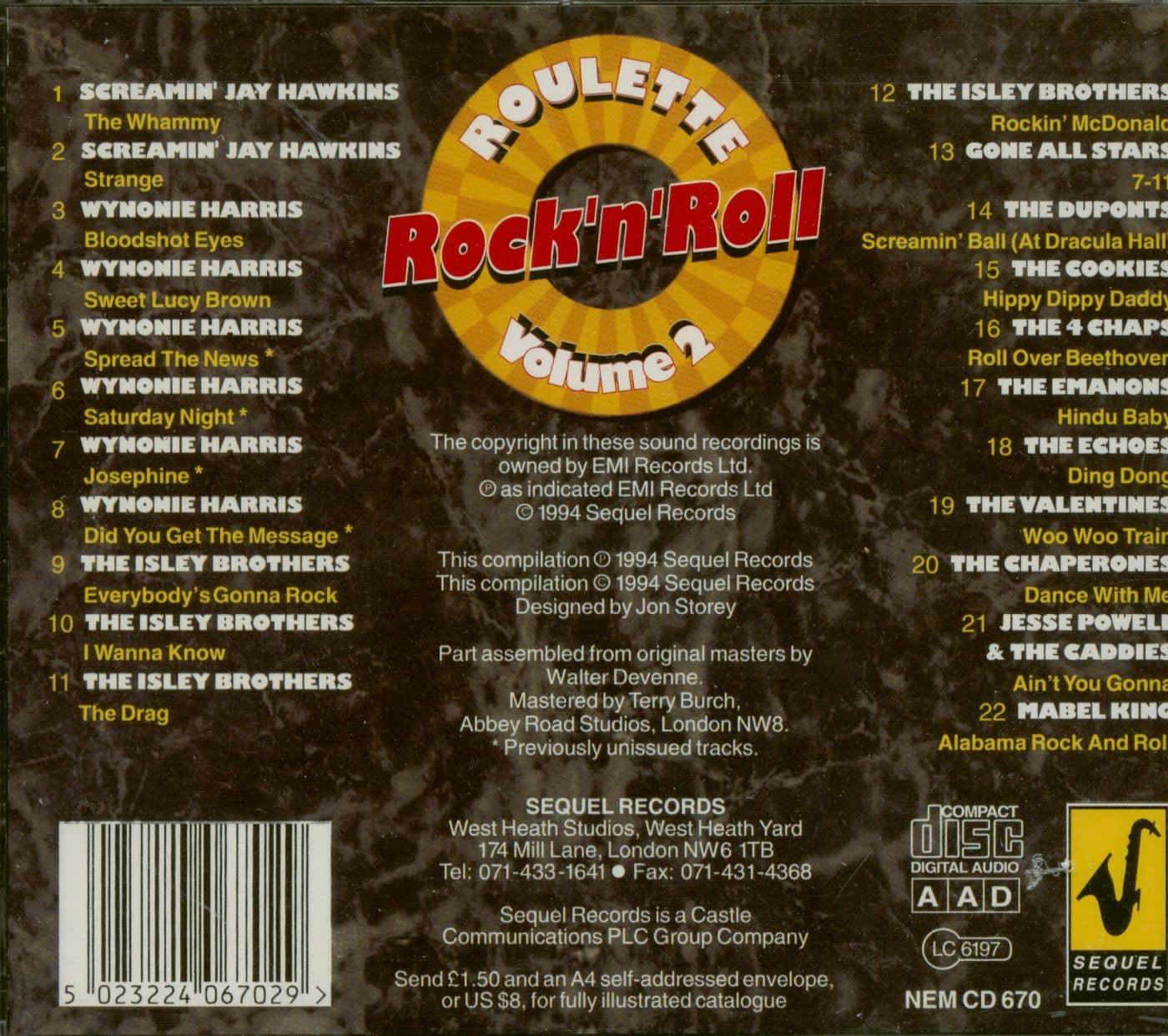 Rock n roll roulette alla