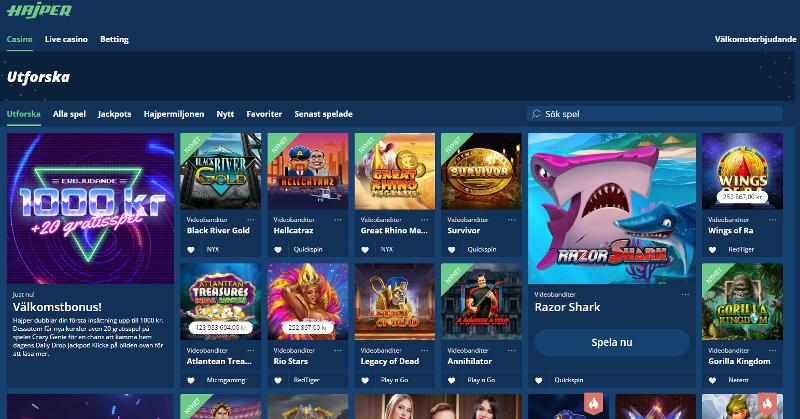 SEK valuta casino online Hajper exempel
