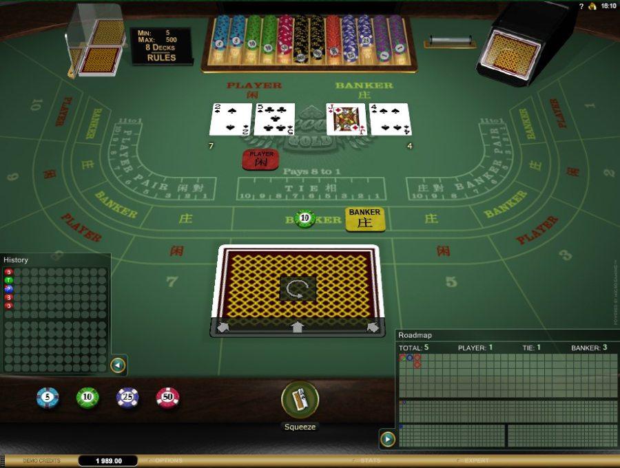 Baccarat casino kortspel snabbspel