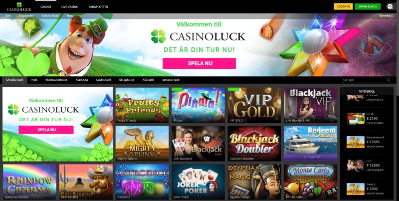 Online en spelform casinoLuck korthet