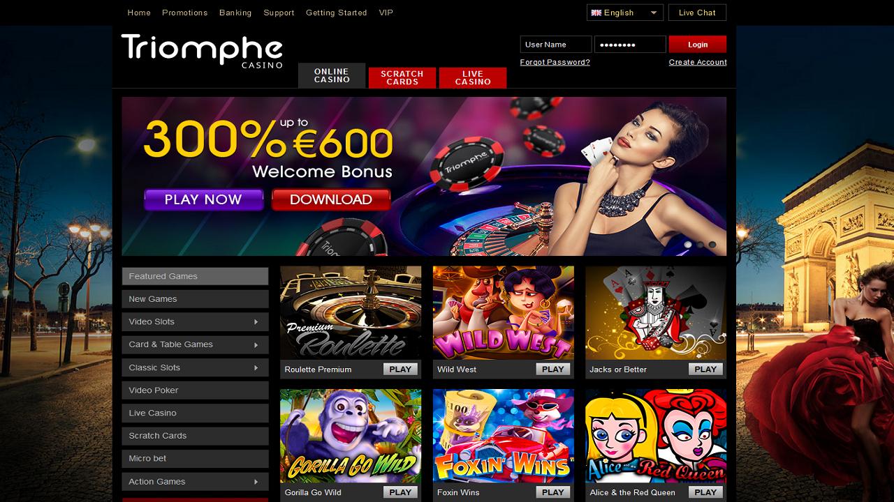 Online casino sportspel Triomphe casinostatistik