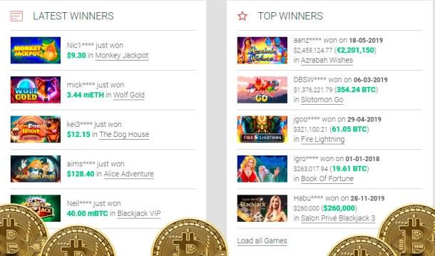 Casino bitcoin deposit cashback generös