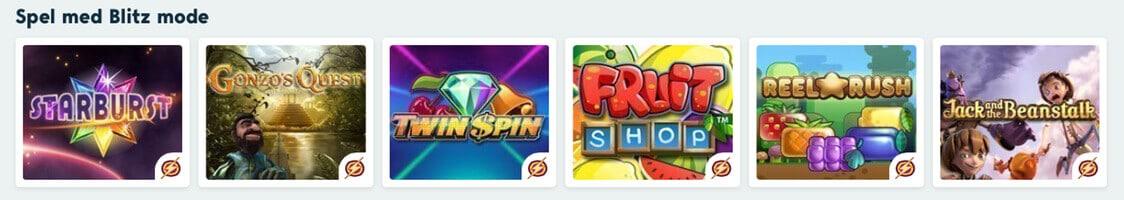 Bonusspel spelautomater Speedy casino rider