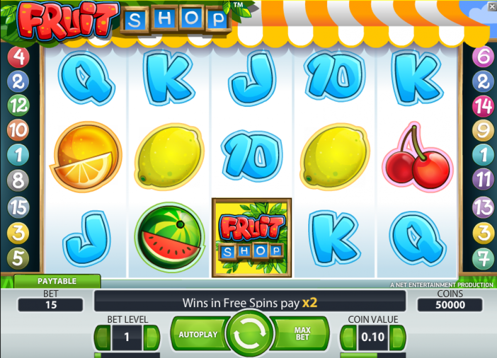 Fruit shop free spins casinospel