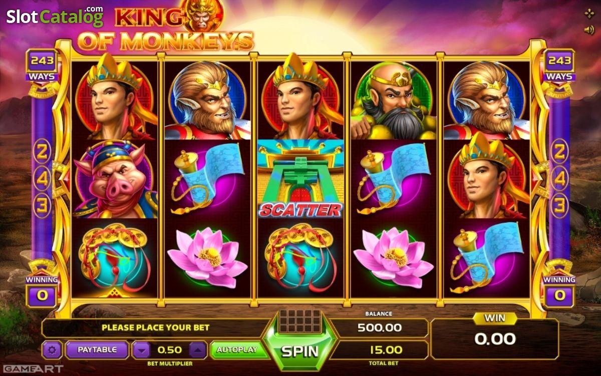 Spelautomater på Svenska Monkey King kontant