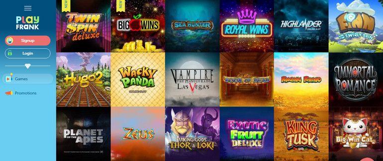 Helg spins PlayFrank casino sportsbetting