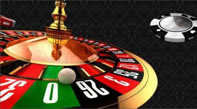 Roulettebord med en live ökar