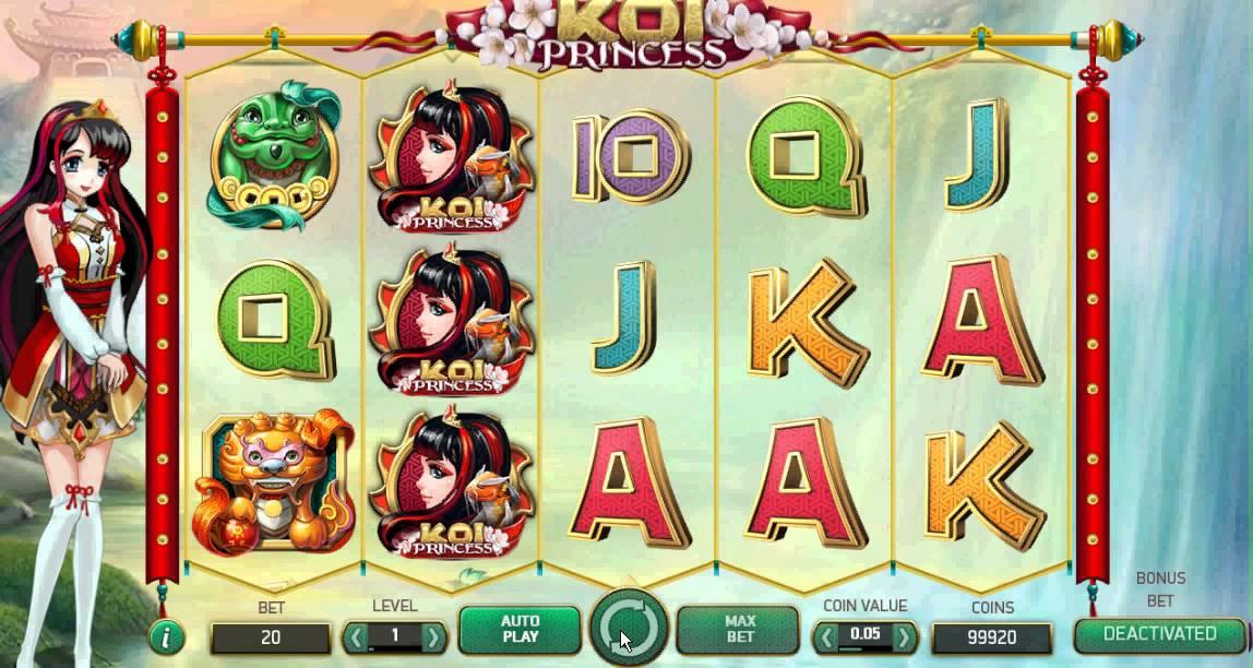 Videoslots flashback Koi Princess resultat