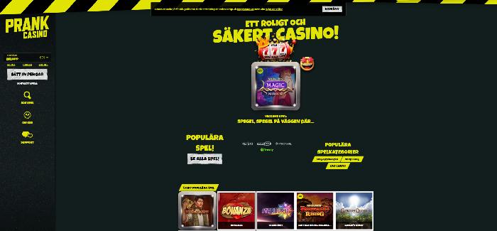 Insättningsfria freespins Prank casino slots