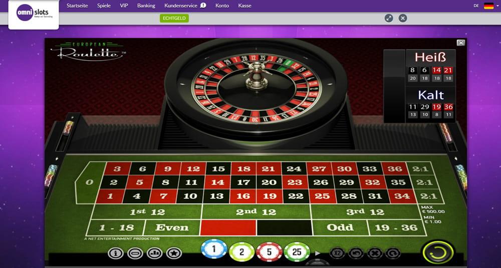 Lär dig spela roulette Omni mellan