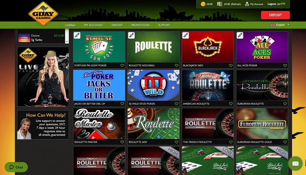 Live casino i gamla