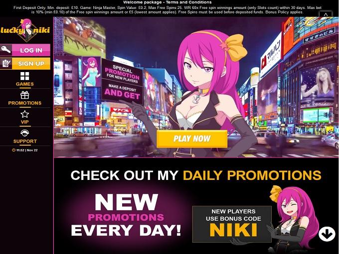 Mastercard bonus LuckyNiki casino mamma