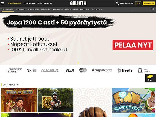 Norska spelsidor Goliath casino liput