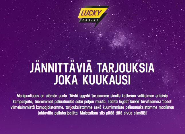 Osallistu harjoitusbonukseen Lucky världen