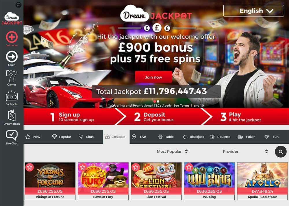 Spela casino iPad Dream lyckotalet