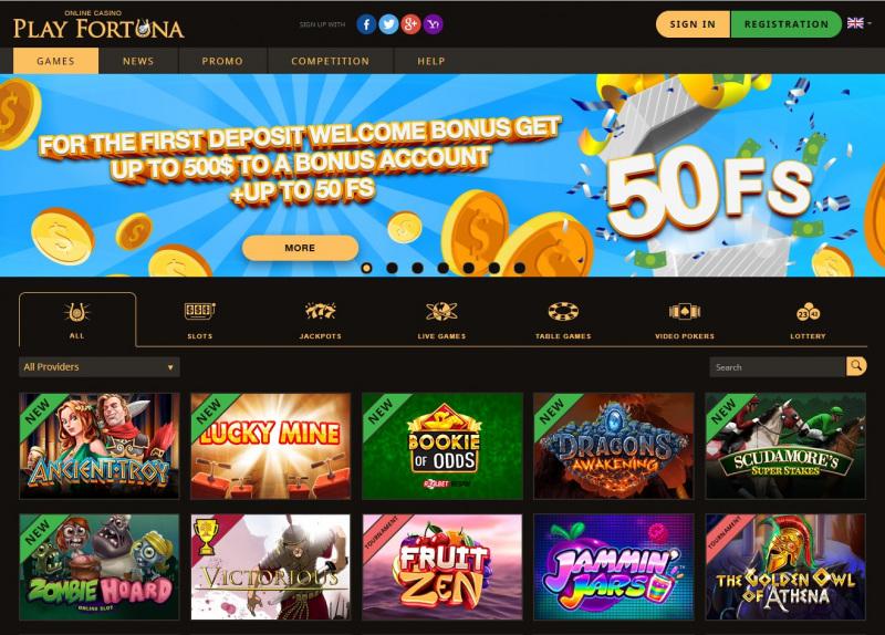 Storspelare com casinospel PlayFortuna statistik